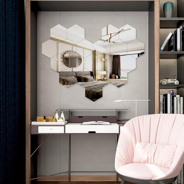 [CÓ PHÂN LOẠI ] Gương dán tường, bộ 12 gương dán tường nhiều kích thước, kích cỡ 4x4cm, 8X8 cm , 11X11 cm ,gương dán tường trang trí giá rẻ