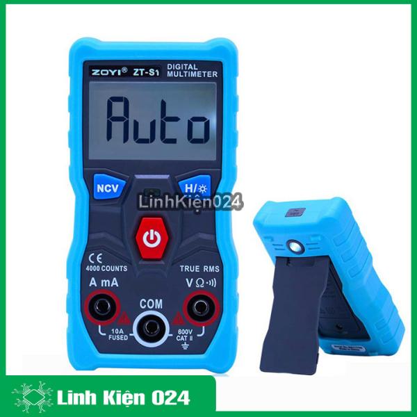 Đồng hồ đo điện vạn năng Zoyi ZT-S1 tự động điều chỉnh thang và chế độ đo, hiển thị kỹ thuật số, bảo hành 03 tháng