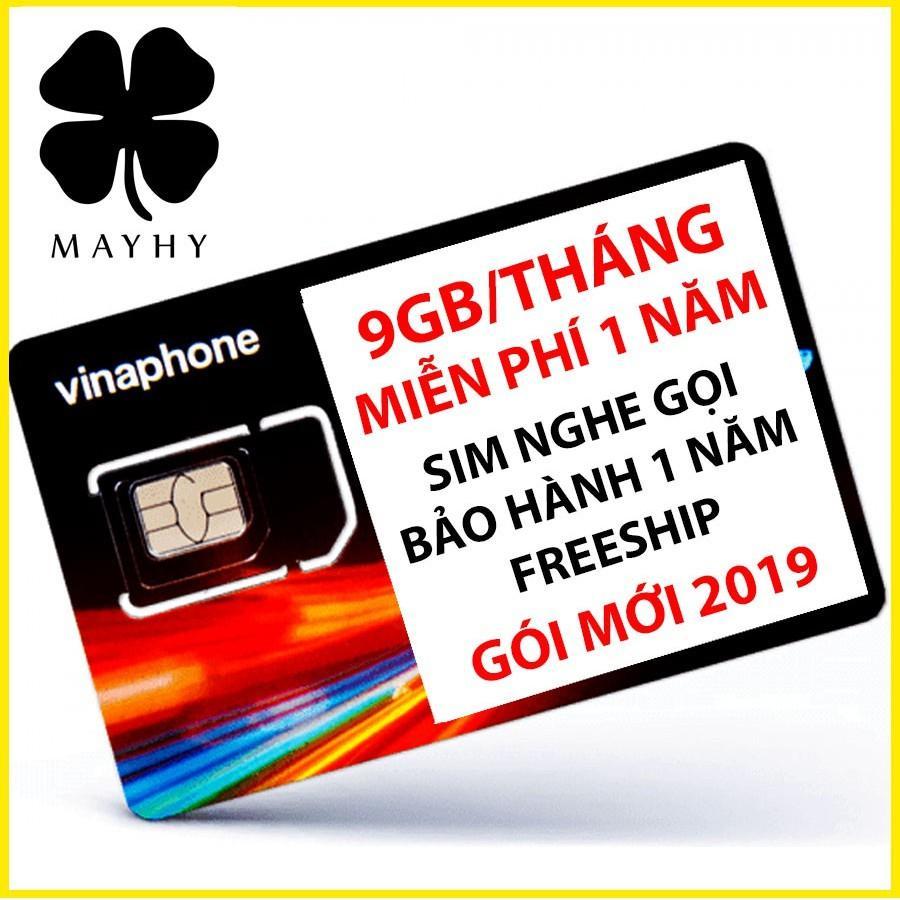 Sim 4G Vinaphone 9GB/tháng - trọn gói 1 năm không nạp tiền mua data
