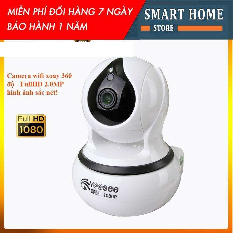 Camera ip wifi Yoosee xoay 360 độ trong nhà IP99- fullhd 1080-2.0mpx hình ảnh cực nét, cảm biến chống trộm nhạy (BẢO HÀNH 12 THÁNG)