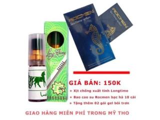 Bao Cao Su Siêu Gai + KÉO DÀI QH Rocmen Cá Ngựa Xanh Hộp 10 Chiếc + Tặng chai longtime thumbnail