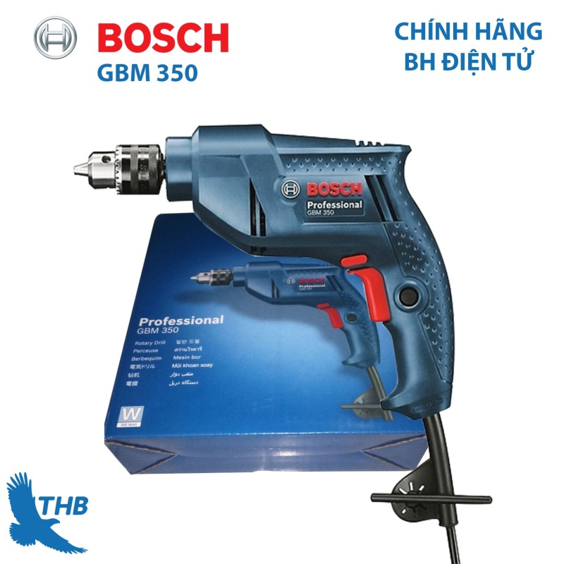 Máy khoan cầm tay Máy khoan điện Bosch GBM 350 công suất 320W Dòng máy khoan giá rẻ mới nhất năm 2019