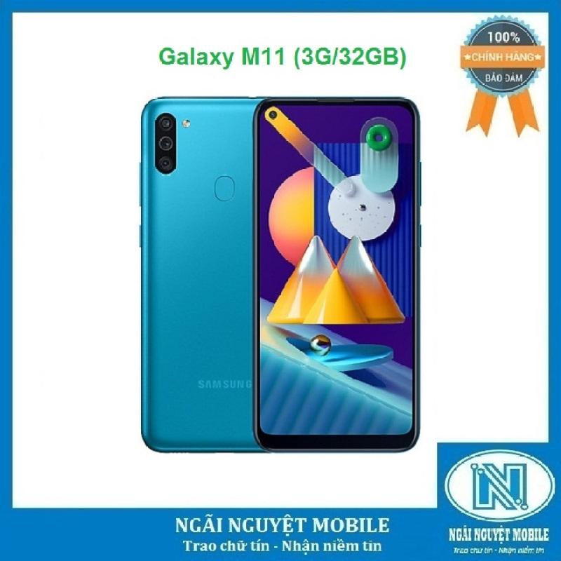 Điện thoại Samsung Galaxy M11 Màn hình:PLS TFT LCD, 6.4,HD+ Hệ điều hành: Android 10 Camera sau: Chính 12 MP & Phụ 5 MP, 2 MP trước: 8 MP CPU: Snapdragon 450 8 nhân RAM: 3 GB Rom: 32 GB pin: 5000 mAh, có sạc nhanh Bảo hành chính hãng 12 tháng