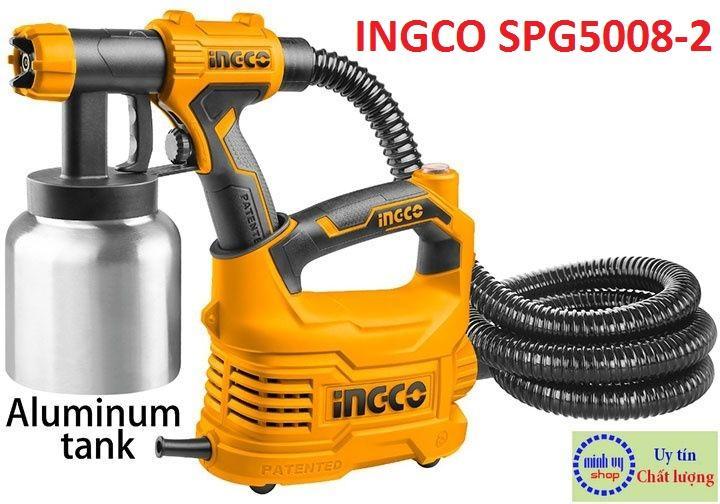 MÁY PHUN SƠN DÙNG ĐIỆN INGCO 500W Bình Nhôm INGCO SPG5008-2
