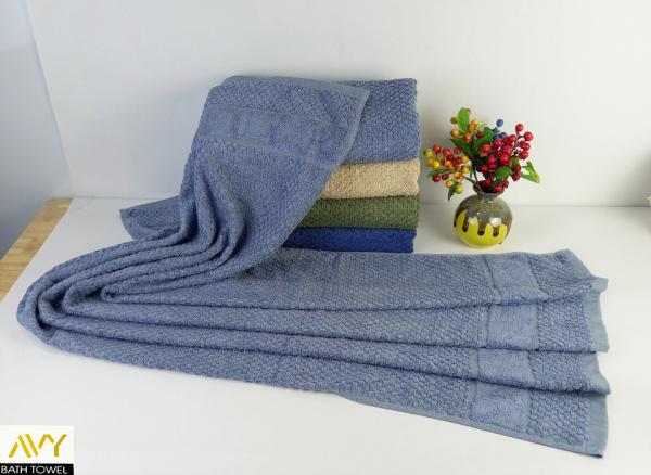Khăn tắm cao cấp, nguyên liệu sợi tre, mịn màng, dày dặn, thấm hút tốt, Khăn tắm cỡ lớn không hôi nhớt, không phai màu, 60x120cm