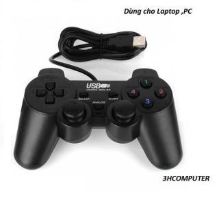 Tay cầm chơi game cho PC, Laptop ,Tay Cầm Chơi Game USB For PC 360 Có Dây Chơi Game Chơi Trên Laptop, PC - Tay Cầm USB for PC Đơn rung Có Dây Chơi Game Tối Ưu Cho PC ,Laptop thumbnail