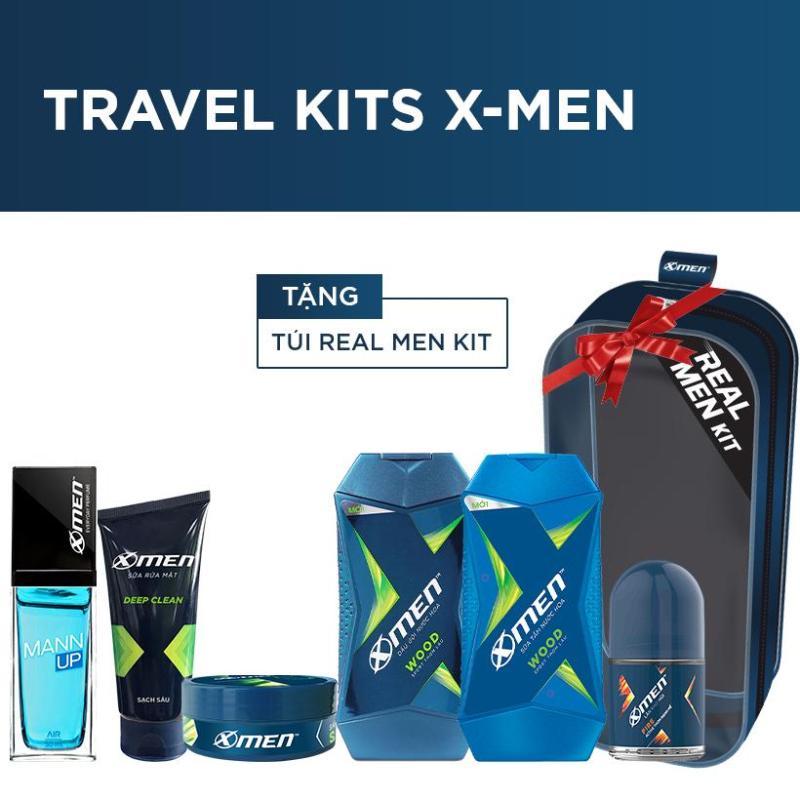 Bộ Travel Kits X-Men (Tặng kèm túi Real Men Kit)