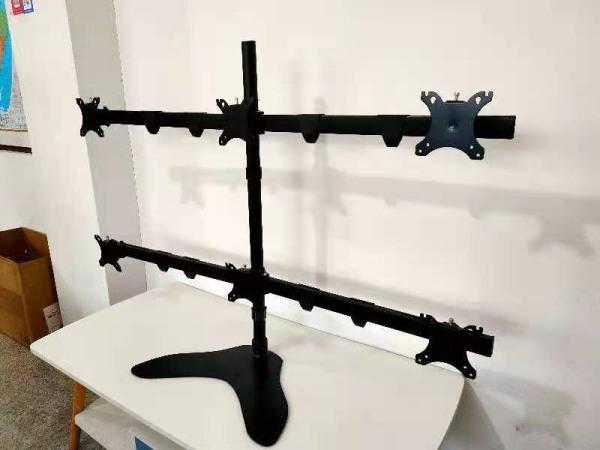 Bảng giá Chân đế để bàn 6 màn hình lcd, Led 14-27 inch, xoay màn hình 360 độ, ốp đi dây gọn gàng, mầu đen, thép sơn tĩnh điện siêu bền, bảo hành 24 tháng Phong Vũ