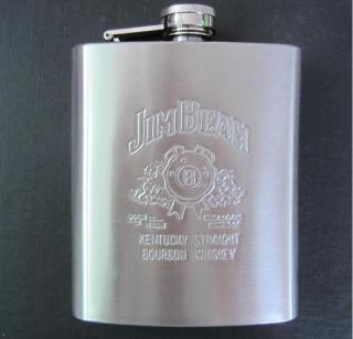 Bình Inox đựng rươu mini dung tích 200ml (7oz) logo JimBeam thumbnail
