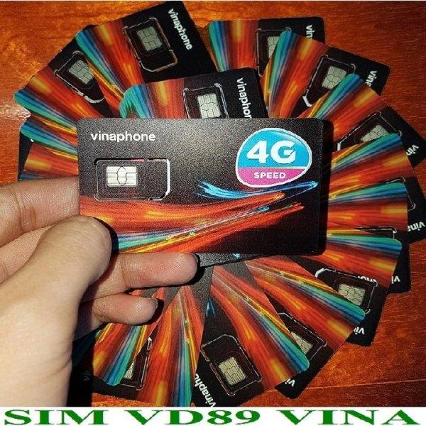 Sim 4G Vina 12VD89/D60G gói 2GB/ngày Trọn gói 1 năm + 50 phút gọi ngoại mạng + Miễn phí gọi nội mạng Vinaphone