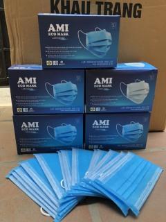 Combo 5 hộp Khẩu Trang Y Tế Than Hoạt Tính 4 lớp màu đen,AMI (50 chiếc 1 hộp) thumbnail