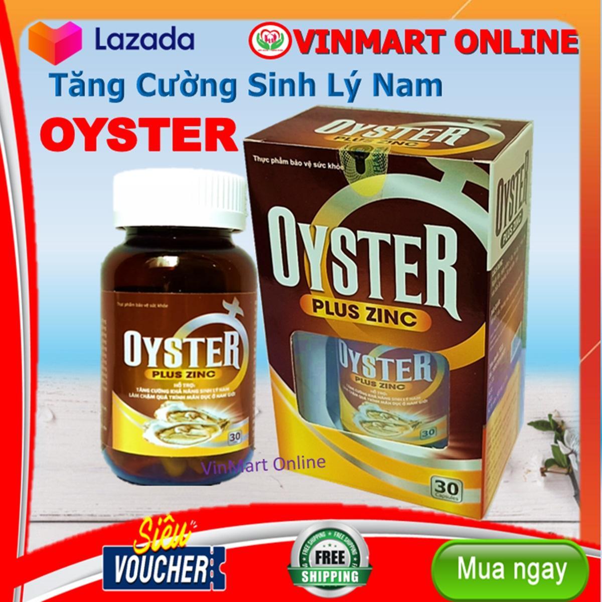 Giảm Giá Khi Mua cho Hàu Biển Oyster Plus Zinc  - Tăng Cường Sinh Lý - Bổ Thận - Tráng Dương- HSD 2022