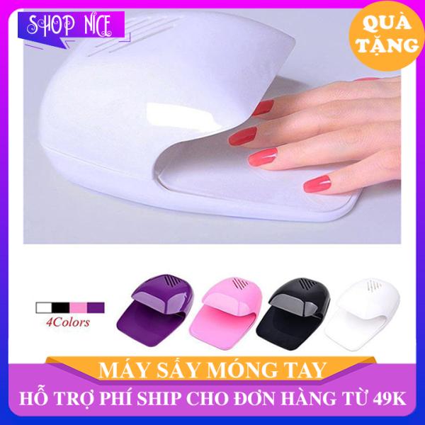 Máy sấy móng tay móng chân mini bằng nhựa cao cấp, máy hơ gel sơn dùng pin tiểu thích hợp bạn thích làm nails ShopNice - KD98 giá rẻ
