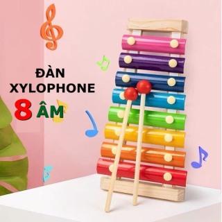 Đồ chơi trẻ em đàn xylophone 8 âm bằng gỗ phát triển trí não và cảm quan cho bé gái và trai từ 1 tuổi trở lên. thumbnail