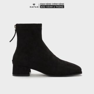 Giày Bốt Nữ Boot Da Lộn Gót Khoá 3Phân HAPAS - BOT329