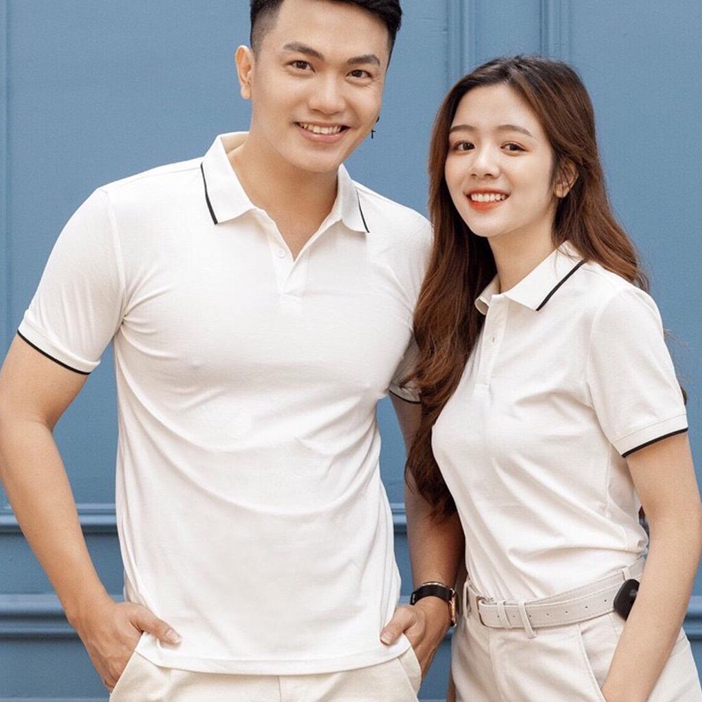 Áo Polo nam nữ unisex có cổ đẹp Hamino basic ngắn tay chất vải thun cotton co giãn cao cấp màu trắng đen ghi xanh vàng đỏ form ôm dáng slmfit thời trang Hàn Quốc