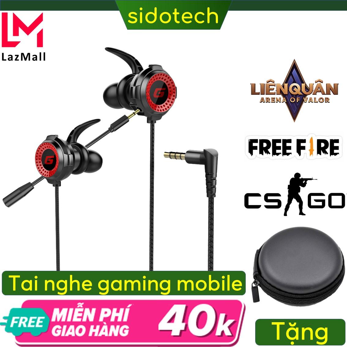 Tai nghe game thủ có dây chống ồn Sidotech G11 có mic 360 độ tích hợp chuyên dụng chơi game pug mobile tốc chiến lmht liên quân trên điện thoại dành cho game thủ chuyên nghiệp