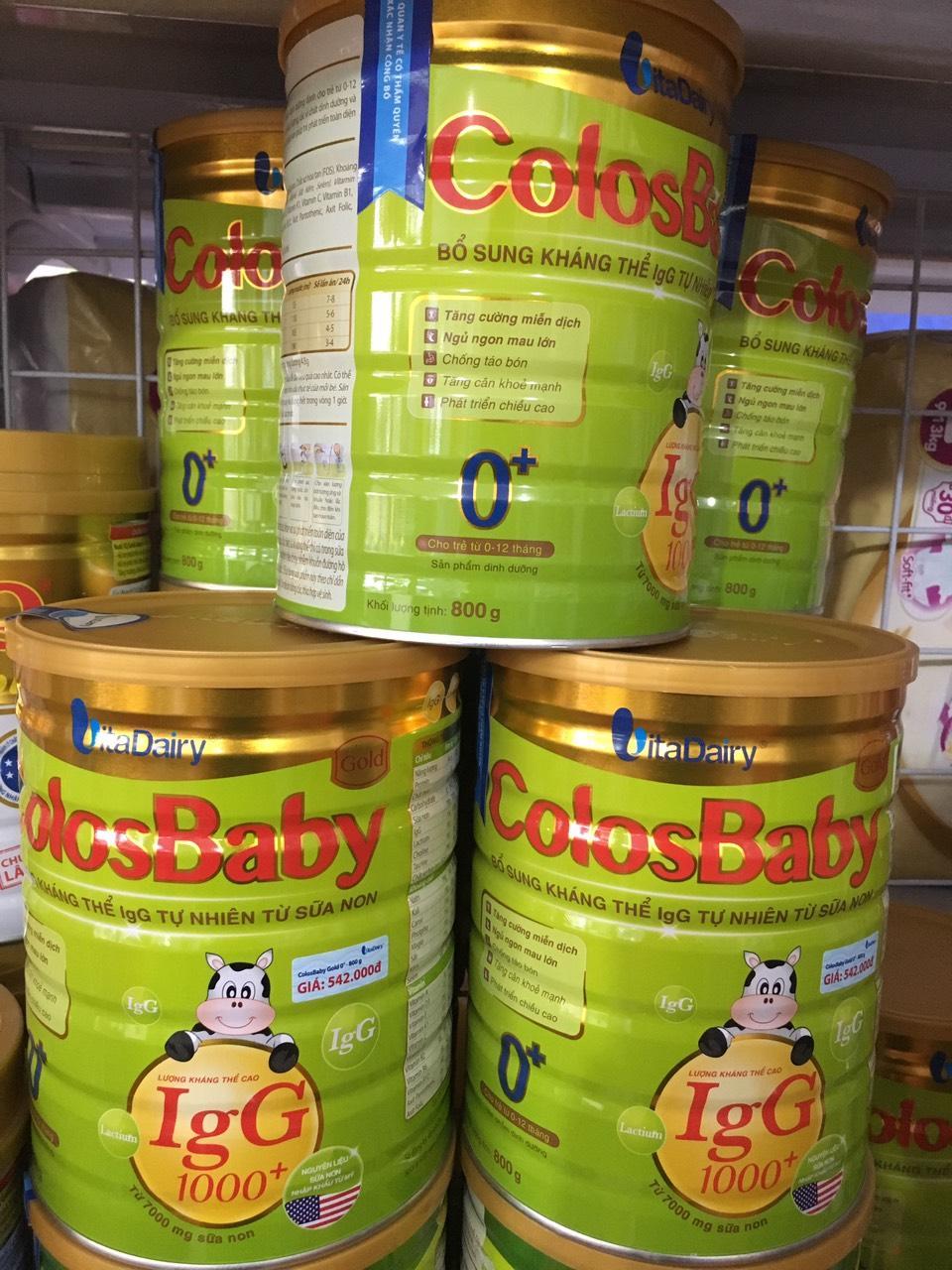 Bộ 5 lon Sữa Non ColosBaby Gold 0 800g (0-12...