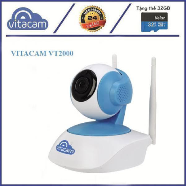 Camera IP Wifi Vitacam VT2000 3.0MP FullHD+ 1536P hồng ngoại ban đêm - đàm thoại 2 chiều (Trắng) - Phụ Kiện 1986