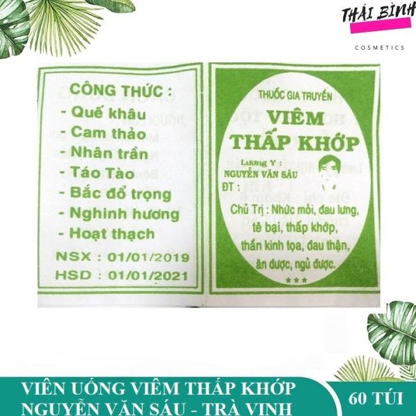 Viêm Xương Khớp Viêm Thấp Khớp Nguyễn Văn Sáu tỉnh Trà Vinh - túi 60 gói