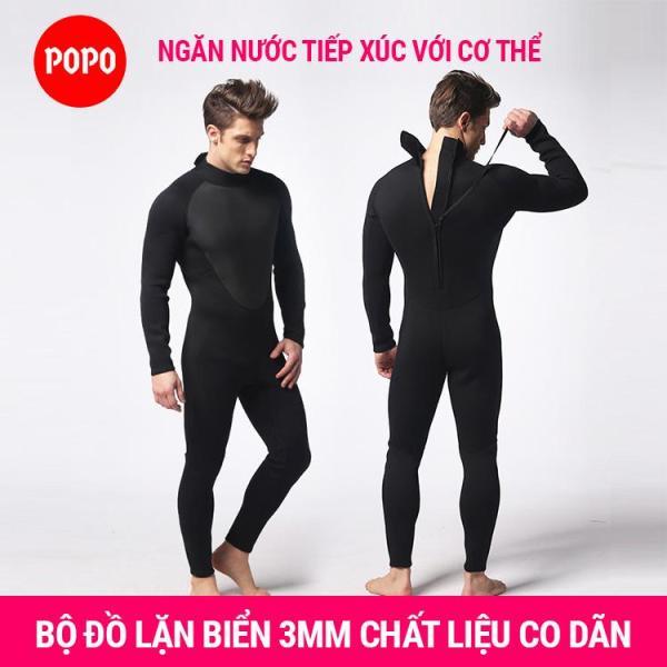 Bộ đồ lặn, quần áo lặn biển 3mm giữ ấm, thoáng khí, chống thầm nước cao cấp POPO Collection