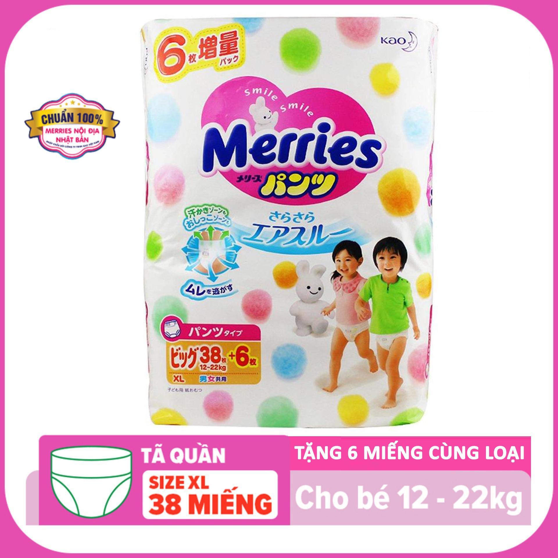 Tả quần Merries XL38+6 ( 12~22kg)