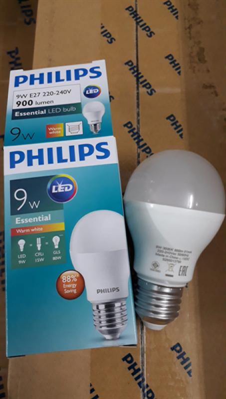 Led Bulb Philips 9W ánh sáng trắng/vàng