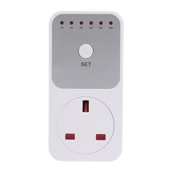 Smart Control Countdown Timer Switch Plug-In Socket Auto Shut Off Outlet