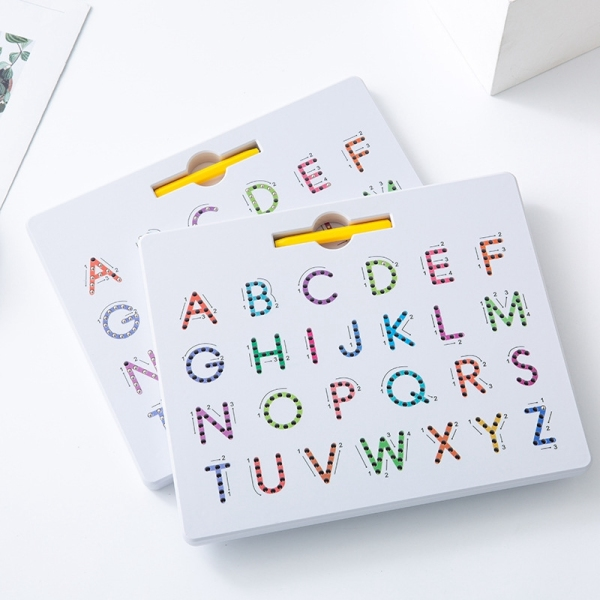 2Pcs Magnetic Alphabet Trace Board Double Sided Upper & Lower Case Letters Writing Practice Kids Learning Toy Singapore