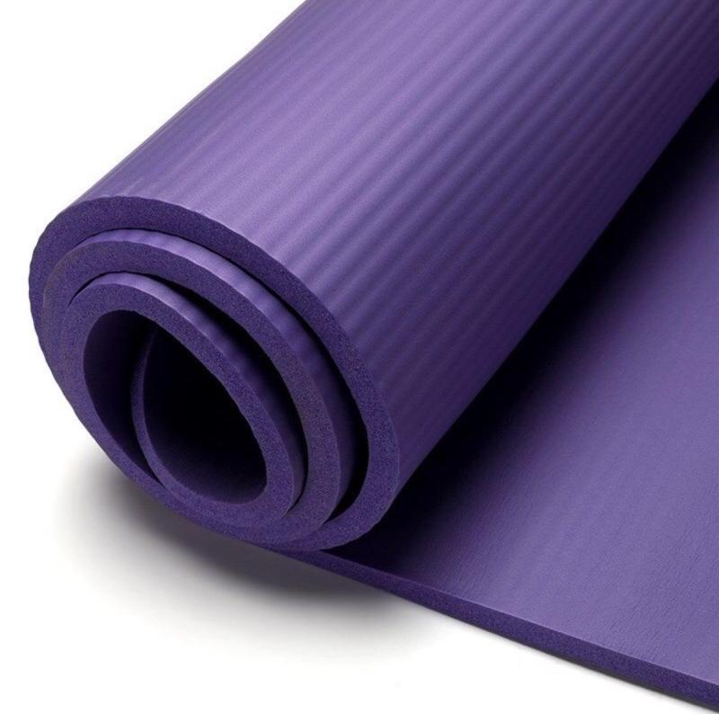(nhiều màu) Thảm Tập Yoga Gym  Nhập Khẩu Nhật Bản Vân Sọc dày 10mm tặng túi đeo đựng và quai đeo thảm thảm sang trọng