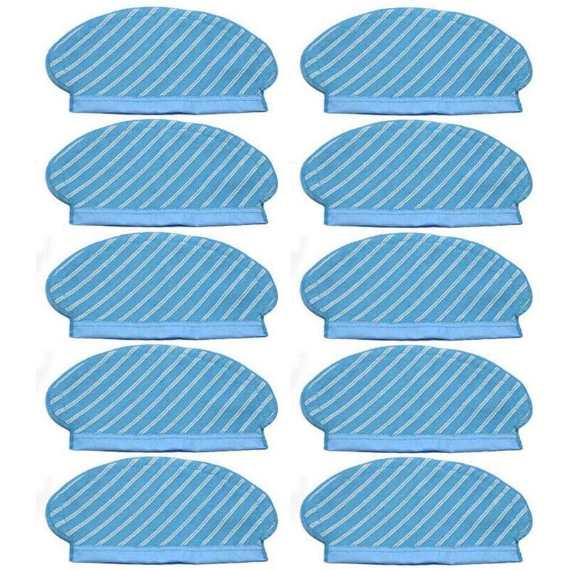 10Pcs Mop Cloth Pads Set for Ecovacs Deebot Ozmo 920 950 Vacuum Cleaner Parts Replacement Home Accessories