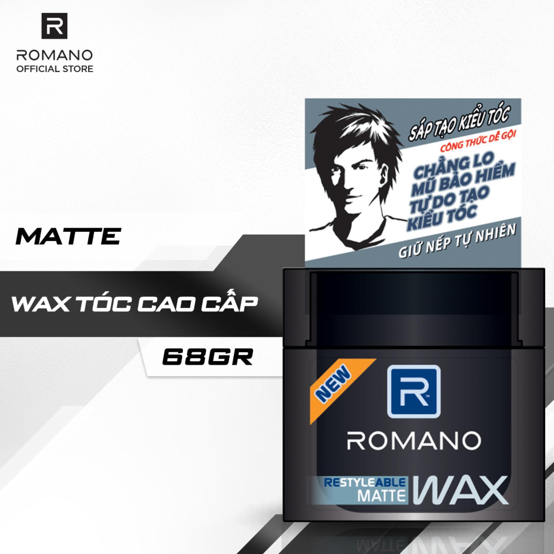 Sáp tạo kiểu tóc Romano Restyleable Matte 68g nhập khẩu