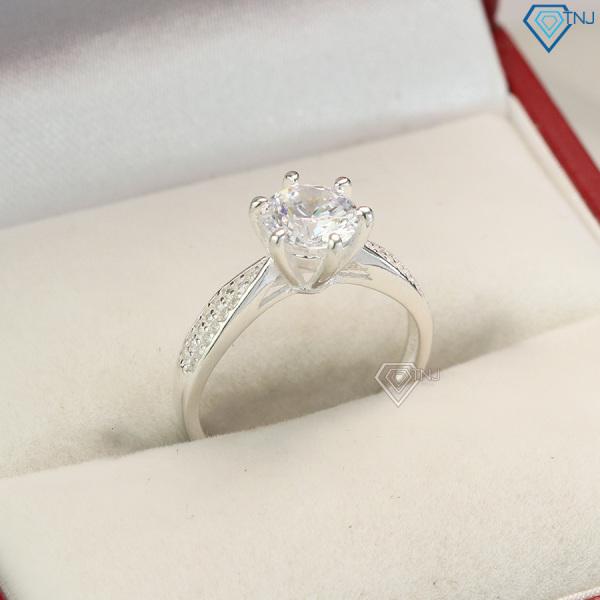 Nhẫn bạc nữ đính đá cao NN0257 - Trang Sức TNJ