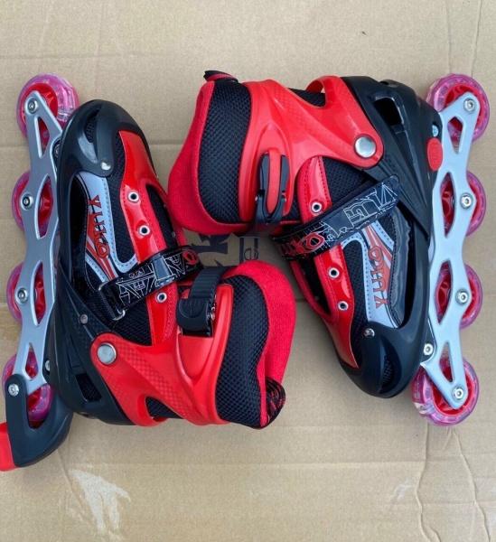 Phân phối Giày trượt patin màu đỏ dành cho bé có bánh phát sáng