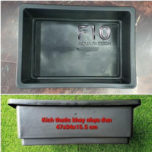 Khay nhựa nuôi cá trồng rau màu đen kích thước 47x34x15.5 cm