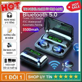 Tai Nghe Bluetooth Không Dây F95 Nhét Tai Pin 3500 maH Micro HD, Chống Nước - Tai Nghe Bluetooth 5.0 - Tai nghe bluetooth pin trâu - Tai nghe nhét tai không dây bluetooth, Tai nghe bluetooth không dây pin trâu thumbnail