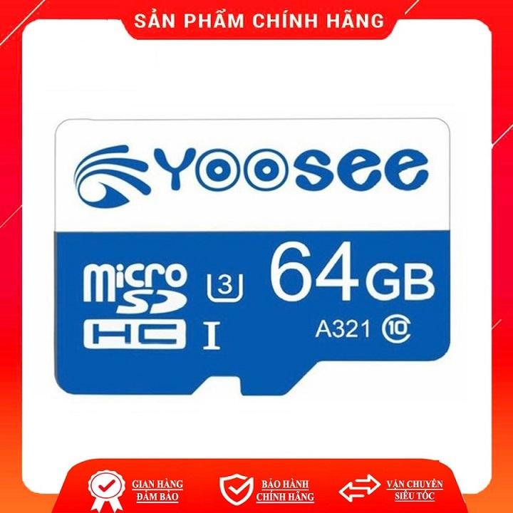 Thẻ nhớ YOOSEE 32GB/ 64GB U3 Class 10 chuyên dụng camara điện thoại loa đài