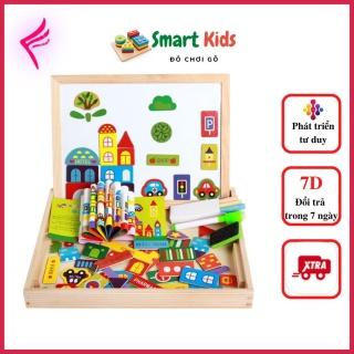 [Giảm giá thần tốc] Đồ chơi cho bé gái bé trai thông minh phát triển trí tuệ, bảng nam châm ghép hình cho bé từ 1-6 tuổi thumbnail