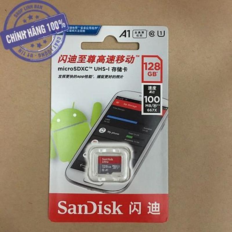 Thẻ nhớ micro SD sandisk Ultra A1 128GB 100Mb/s SDXC - New version