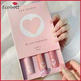 [HOT TREND 2021] Set son môi kem lì phiên bản trái tim 3 màu Herorange dưỡng môi, không trôi, son môi giá rẻ đẹp như background,3ce,blackrouge ver 7,merzy, romand, bbia - Ecobott thumbnail