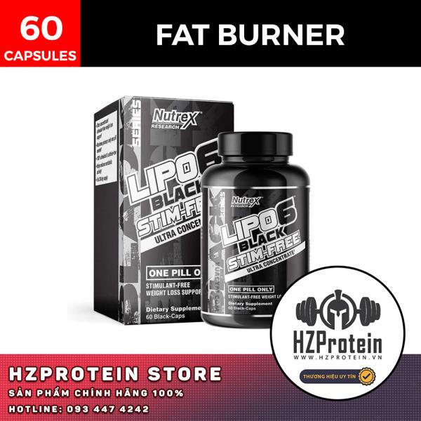 [HCM]Nutrex Lipo 6 Black Stim-Free - Viên Giảm Mỡ Không Chứa Caffeine (60 Viên)