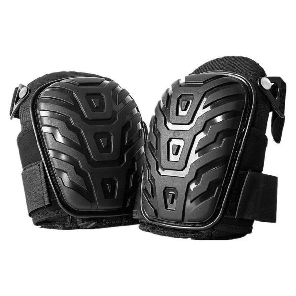 XIN 1 Pair Professional Knee Pads with Adjustable Straps Safe EVA Gel Cushion PVC Shell Knee Pads for Heavy Duty Work