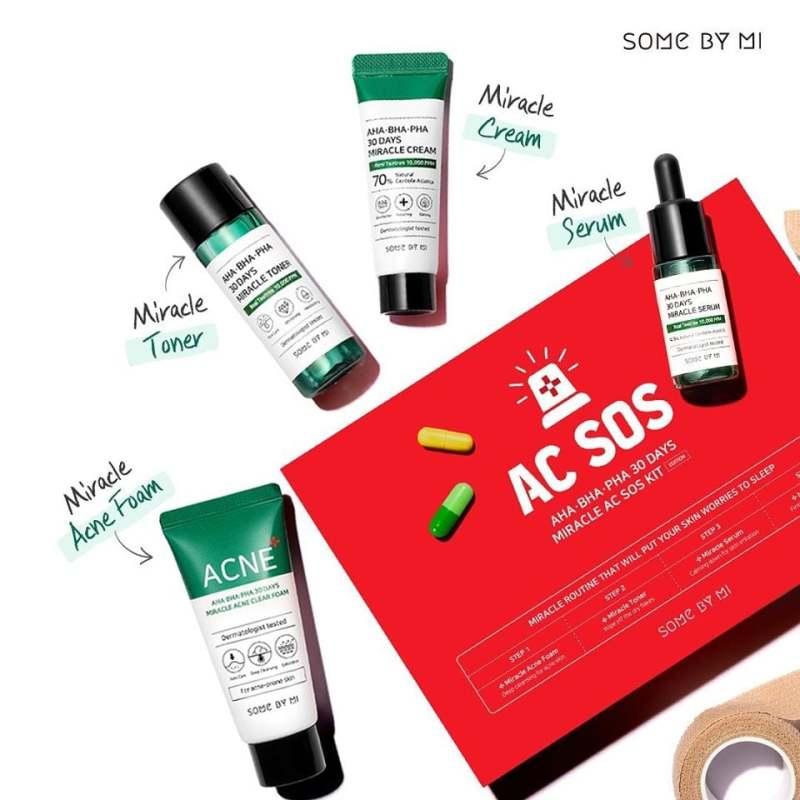 Set Dưỡng Da Mụn Some By Mi AHA- BHA-PHA 30 Days Miracle Travel Kit giá rẻ