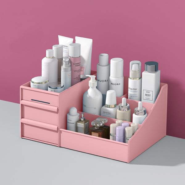 Kệ đựng mỹ phẩm 3 tầng 2 ngăn kéo, hộp đựng đồ trang điểm, makeup bằng nhựa cao cấp giá rẻ