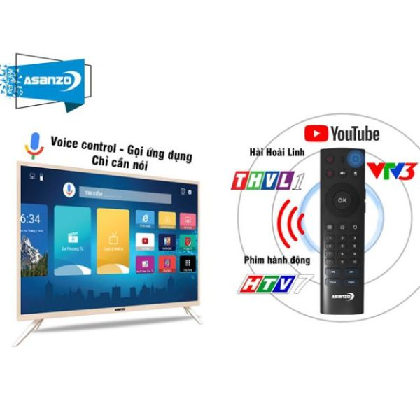 Bảng giá ASANZO Tivi 43inch Smart t voice full hd- model 43VS9