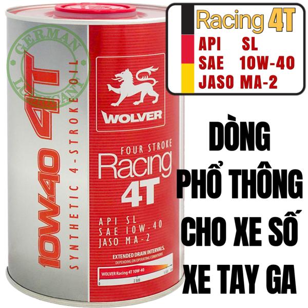 Dầu nhớt Wolver Racing 10W40 API SL
