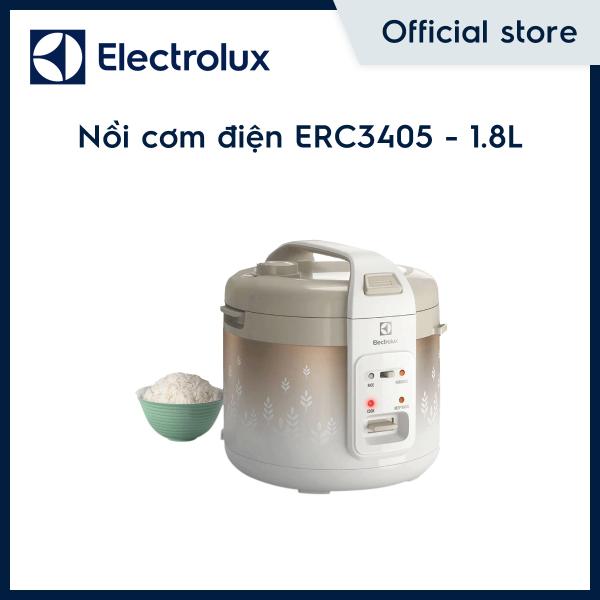 [Freeship HCM & HN] Nồi Cơm Điện Đa Chiều Electrolux ERC3405 - 1.8L - Màu trắng hoa văn vàng đồng - Hàng chính hãng