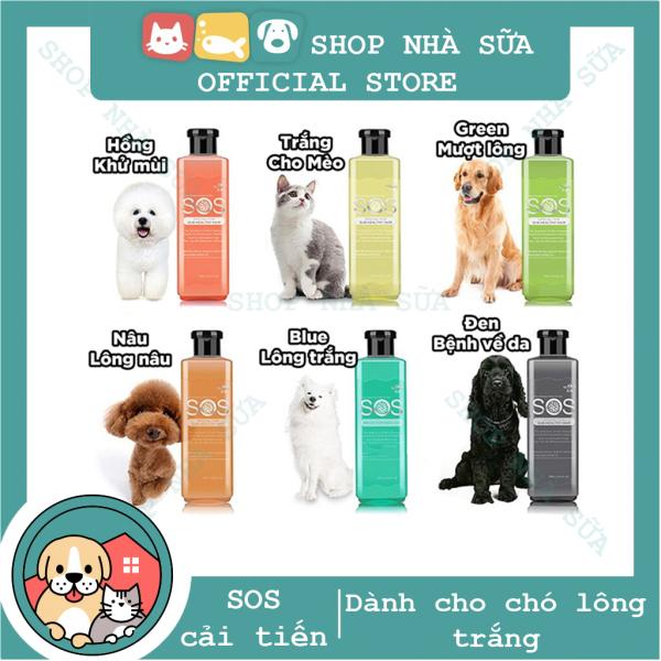 [Lấy mã giảm thêm 30%][MẪU MỚI] - Sữa tắm SOS cho chó lông tạo kiểu dạng gel mới 530ml - Màu Hồng