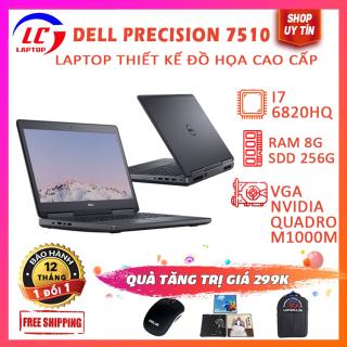 [Trả góp 0%]Laptop Thiết Kế Đồ Họa Laptop Giá Rẻ Dell Precision 7510 i7-6820HQ VGA Nvidia Quadro M1000M Màn 15.6 FullHD IPS thumbnail