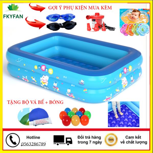 [tặng bóng+ bộ vá bể ] Bể bơi phao 1m2 , 1m2, 1m8 cho bé, bể bơi cho bé và người lớn, bể bơi trong nhà, bể phao bơi khổng lồ